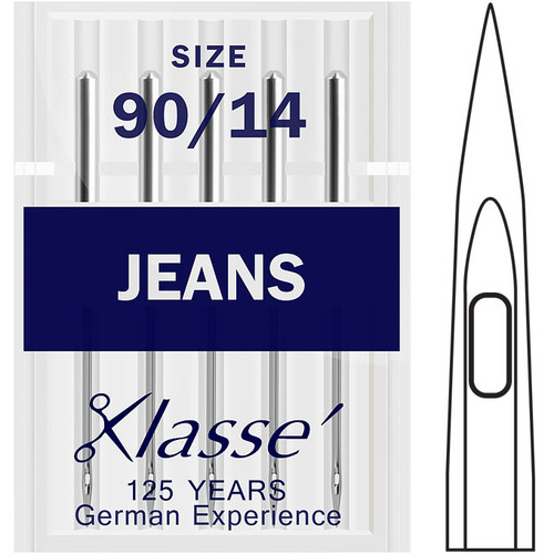 Klasse Jeans / Denim Size 90-14 Sewing Needles