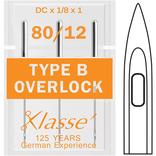 Klasse Overlock Type B 80-12 Sewing Needles