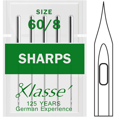 Klasse Sharps 60-8 Sewing Needles