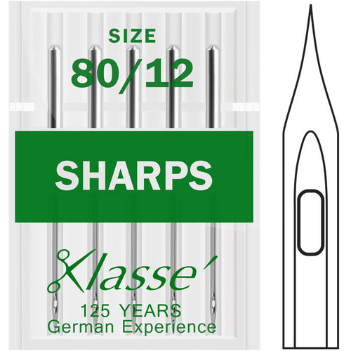 Klasse Sharps 80-12 Sewing Needles