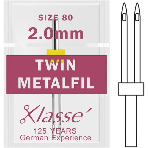 Klasse Twin Metafil 80 - 2.0mm Sewing Needles