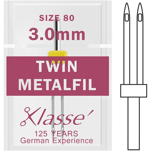 Klasse Twin Metafil 80 - 3.0mm Sewing Needles