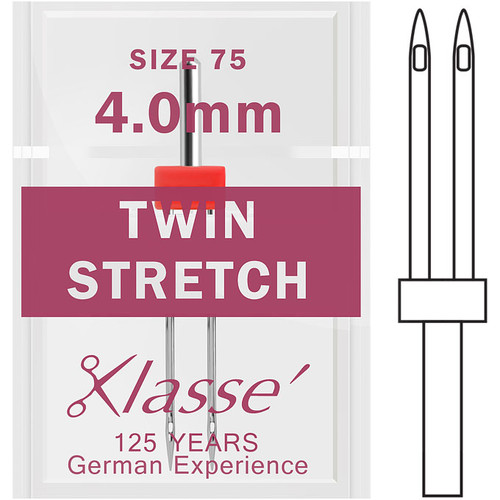Klasse Twin Stretch 75 - 4.0mm Sewing Needles