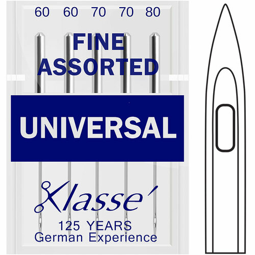 Klasse Universal Fine Assorted Sewing Needles