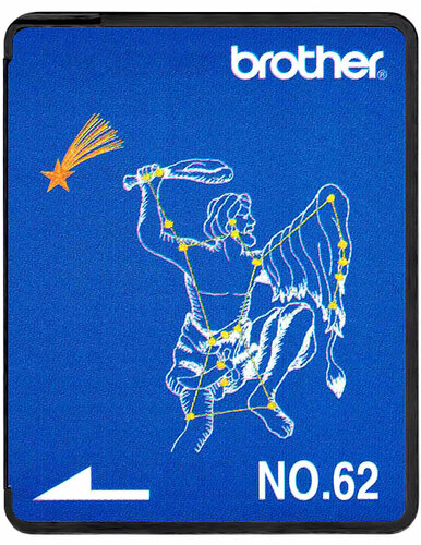 Brother Embroidery Card SA362 No.62 - Zodiac