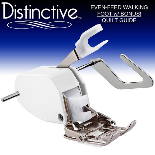 Distinctive Premium Even Feed Walking Sewing Machine Presser Foot and Bonus Quilt Guide w/ Free Shipping