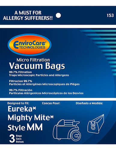 EnviroCare® Micro-Filtration Eureka Mighty Mite Style MM Canister Vacuum Cleaner Bags