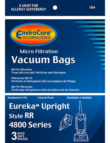 EnviroCare® Micro-Filtration Eureka Style RR Upright Vacuum Cleaner Bags