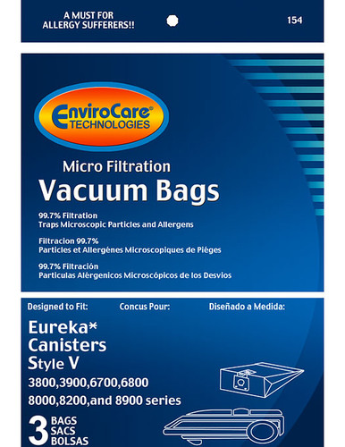 EnviroCare® Micro-Filtration Eureka Express Style V Canister Vacuum Cleaner Bags