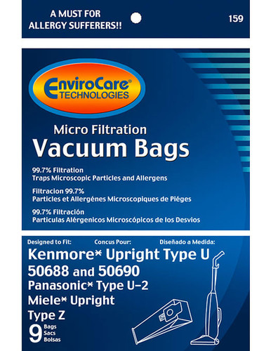 EnviroCare® Micro-Filtration Kenmore 50688 Upright Vacuum Cleaner Bags