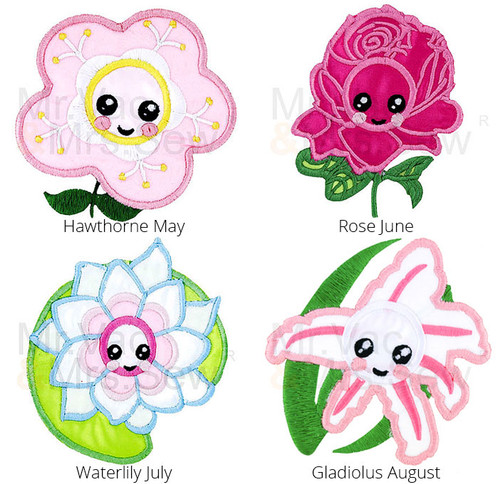 FREE Embroidery Design - Meet the Flowers Applique – Pack 2