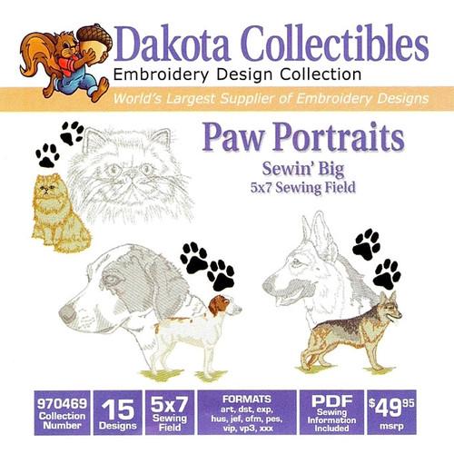 Dakota Collectibles Paw Portraits Embroidery Design CD
