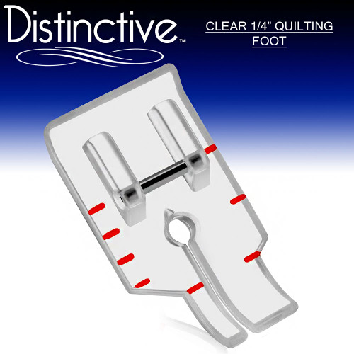 "Distinctive Standard Clear 1-4"" Quilting/Sewing Machine Presser Foot w/ Free Shipping"