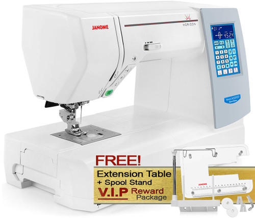 Janome Memory Craft Horizon 8200 QCP Special Edition Computerized Sewing Machine w/ FREE! V.I.P Reward Package and FREE! Next-Day Shipping