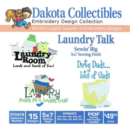 Dakota Collectibles Sewin' Big Laundry Talk Embroidery Design CD