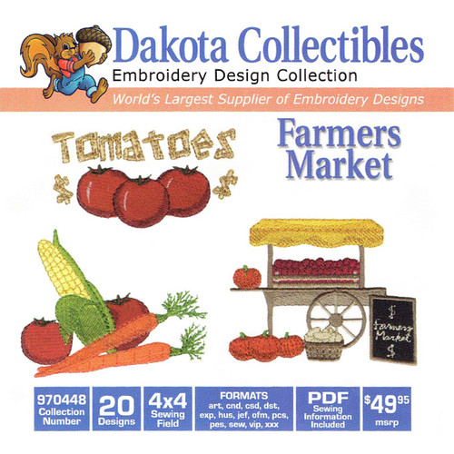 Dakota Collectibles Farmers Market Embroidery Design CD