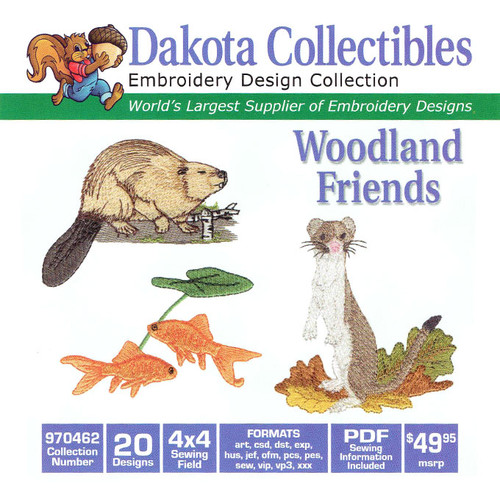 Dakota Collectibles Woodland Friends Embroidery Design CD