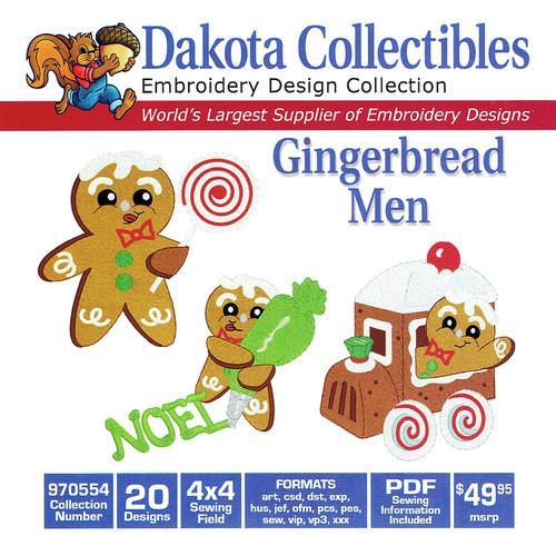 Dakota Collectibles Gingerbread Men Embroidery Design CD