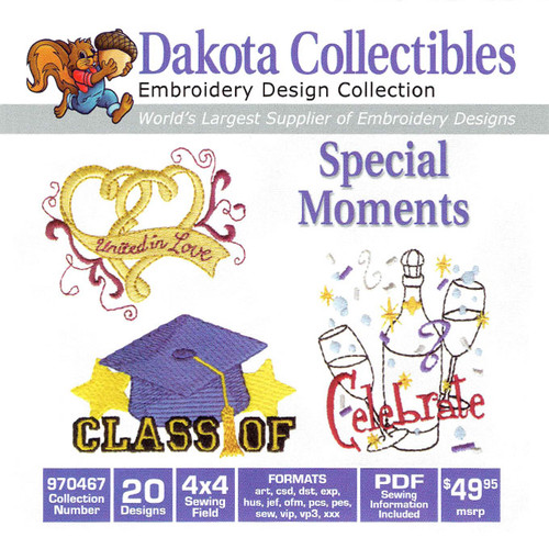 Dakota Collectibles Special Moments Embroidery Design CD