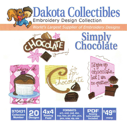 Dakota Collectibles Simply Chocolate Embroidery Design CD