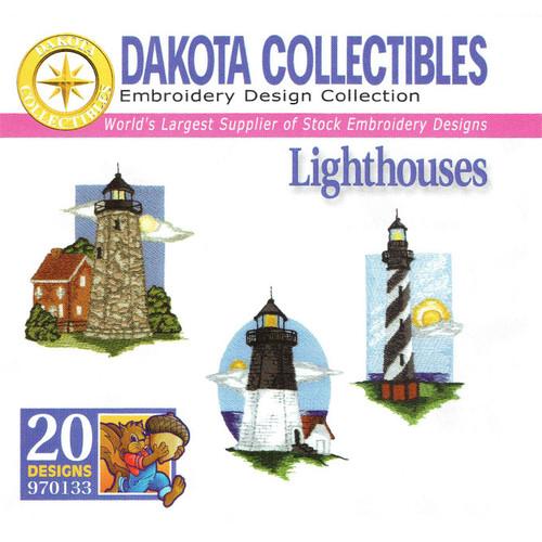 Dakota Collectibles Lighthouses Embroidery Design CD