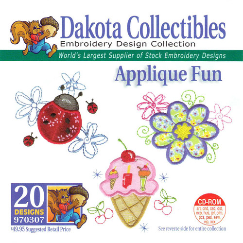 Dakota Collectibles Applique Fun Embroidery Design CD