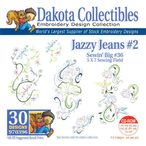 Dakota Collectibles Sewin' Big #36 Jazzy Jeans #2 Embroidery Design CD