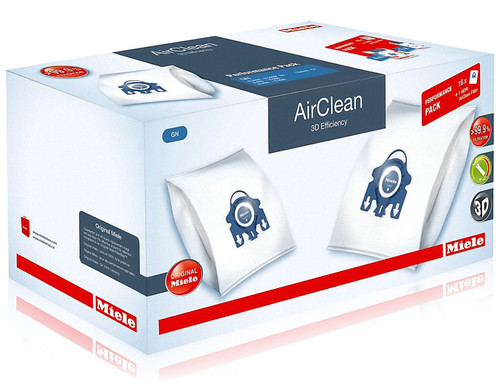 Miele Performance Pack 16 Type GN AirClean 3D Efficiency FilterBags + HA30 HEPA Filter