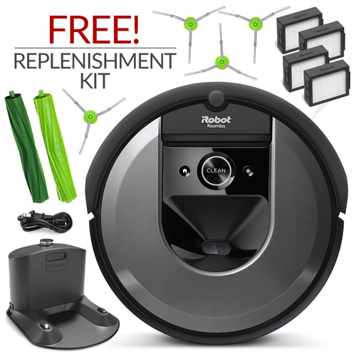iRobot Roomba i7 Automatic Robotic Vacuum Cleaner w/ Free Genuine Replenishment Kit ($49.99 Value)