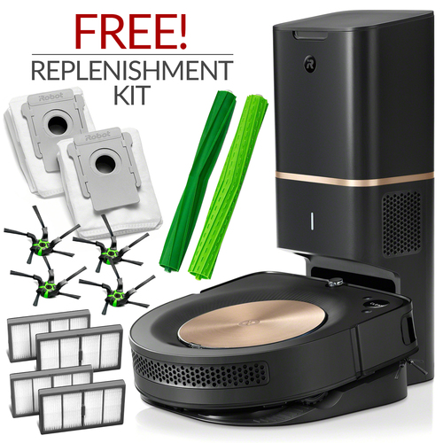 iRobot Roomba S9+ ( S9 Plus ) Automatic Robotic Vacuum Cleaner w/ Free Genuine Replenishment Kit ($74.99 Value)