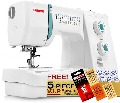 Janome Sewist 500 Sewing Machine w/ FREE! 5-Piece V.I.P Reward Package and FREE! 2nd-Day Shipping