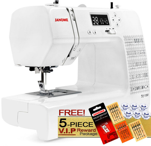 Janome DC1050 Computerized Sewing Machine w/ FREE! 5-Piece V.I.P Reward Package and FREE! 2nd-Day Shipping
