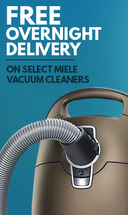 Overnight Delivery on Select Miele Vacuum Cleaners