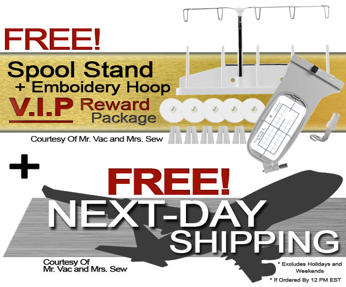 Janome Memory Craft 500e Embroidery Machine w/ V.I.P Reward Package and FREE! Next-Day Shipping