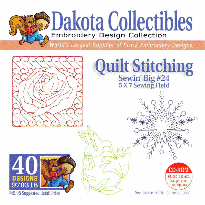 Dakota Collectibles Sewin' Big #24 Quilt Stitching Embroidery Design CD