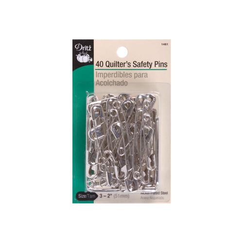 Nickel Size 3 Quilter's Safety Pins 40/Pkg