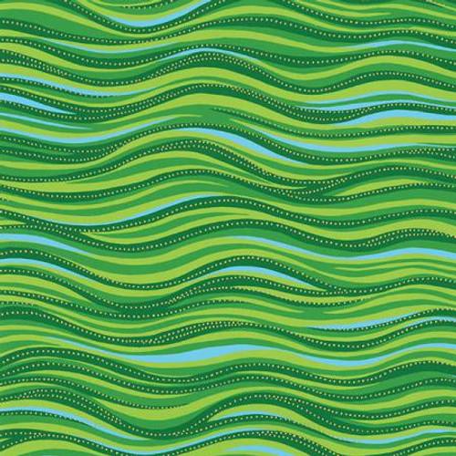 Green Metallic Basic Wave