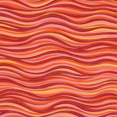Dark Coral Metallic Basic Wave