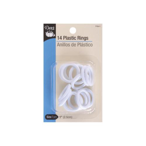 """1"""" PLASTIC RINGS 14/PKG"""