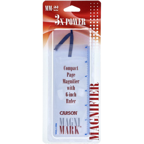 """Carson MagniMark Page Magnifier & Ruler 7.25""""X2.25"""""""
