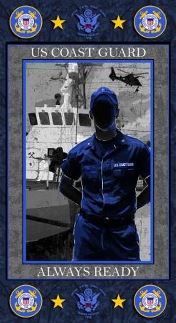 U.S. Coast Guard Always Ready Panel 24in x 44in