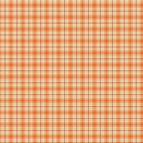 Orange Autumn Plaid
