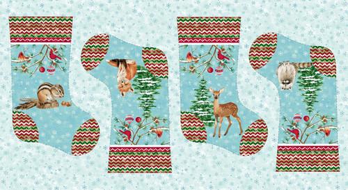 Ice Blue Christmas Stocking