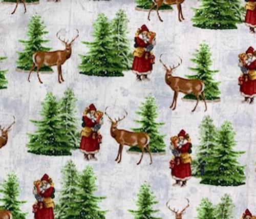 Snow Santa & His Reindeer