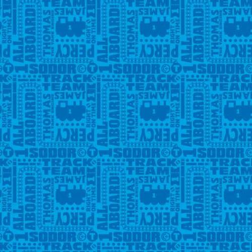 Thomas & Friends Blue Text