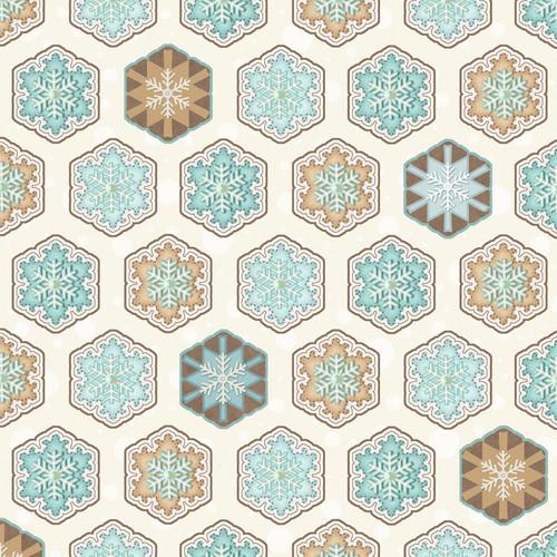 Multi Hexi Snowflakes Flannel