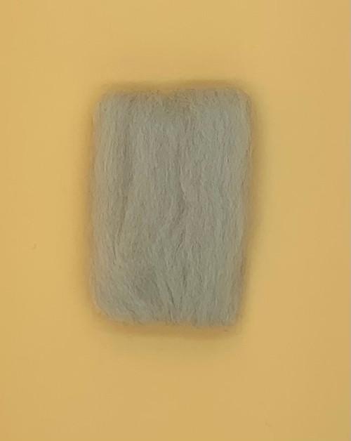 "Light Gray Wool Roving 12"" .22oz"