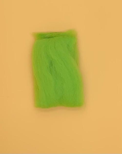 """Lime Wool Roving 12"""" .22oz"""