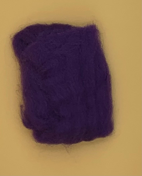"Purple Wool Roving 12"" .22oz"