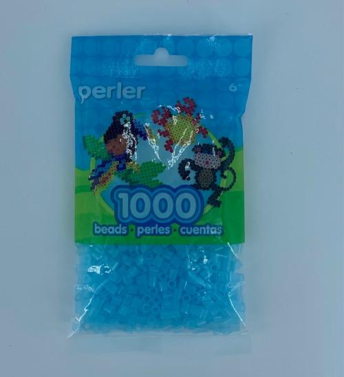CLEAR BLUE PERLER BEAD BAG 1000